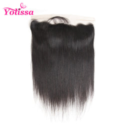 "Yolissa Ear To Ear Lace Frontal Closure With Baby Hair Brazilian Remy Hair Straight 8""-20"" Human Hair free shipping pre plucked"