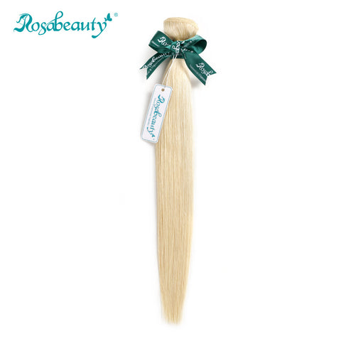 "Rosabeauty Brazilian Straight Remy Hair Bundles 14""-24"" #613 Color 1PC 100% Human Hair Weaving Free Shipping"