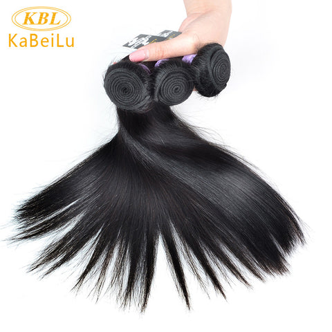 KBL Brazilian virgin Hair Straight 100% Human Hair Weave Bundles Natural Color Unprocessed Hair Extension