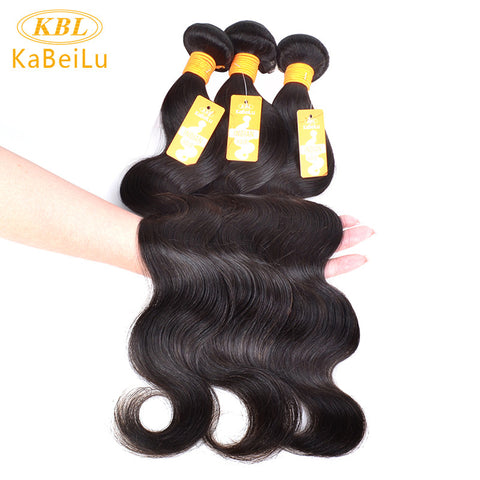 "KBL Raw Indian Virgin Hair Body Wave 100 Human Hair Bundles Product Kabeilu 10""-26"" Unprocessed Natural Color Hair Weaving"