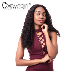 Oxeye girl Brazilian Remy Hair Bundle 1Pc Kinky Curly Human Hair Bundles 10-28 Inch Natural Color Free Shipping