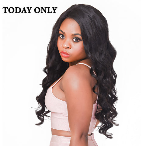 "Today Only Hair Brazilian Body Wave Bundles Non-Remy Human Hair Weave Bundles Natural Color Hair Extensions 8""-28"" Free Shipping"
