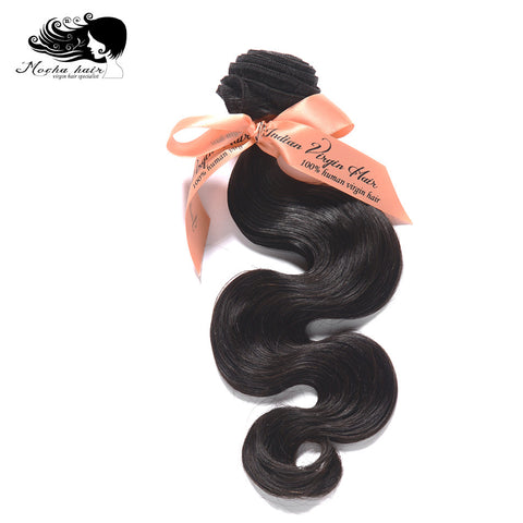 Mocha Hair Body Wave Indian Virgin Hair  extension 12inch-26inch Nature Color  100% Human Hair Weaves