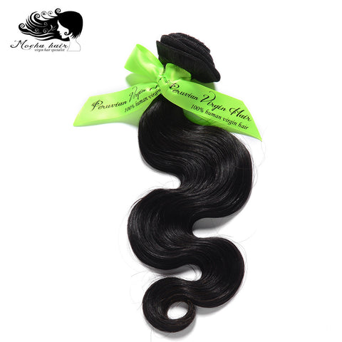 Mocha Hair Body Wave Peruvian Virgin Hair  extension 10inch-28inch Nature Color  100% Human Hair Weaves