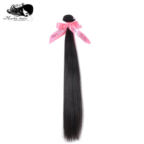 Mocha Hair  Malaysia Virgin Straight  Hair  extension  Nature Color  100%  Unprocessed Human Hair Weaves