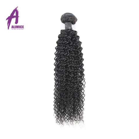 ALIMICE Brazilian Kinky Curly Non-Remy Hair 100% Human Hair Weave Bundles Natural Color Hair Weaving Free Shipping