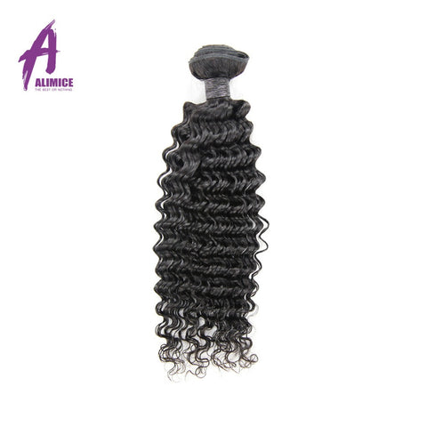 "Alimice Brazilian Deep Wave Non-Remy Hair 100% Human Hair Weave Bundles Hair Weaving Extensions Natural Color 10""-26"" ALIMICE Hair"