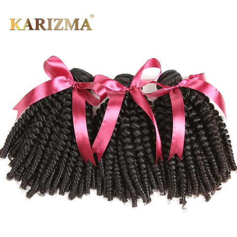 Karizma Mongolian Bouncy Curly Hair Extensions 8-26inch Natural Color 1 Bundle Non Remy Hair 100% Human Hair Weaving