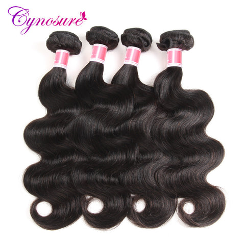 Cynosure Brazilian Body Wave Hair Weave Bundles 1pc Remy Hair 100% Human Hair Bundles 10-28 Inch Natural Color Free Shipping