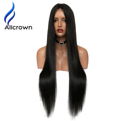 "Alicrown Lace Front Human Hair Wigs For Black Women Straight Brazilian Remy Hair10-20""Pre Plucked Natural Hairline Free Shipping"
