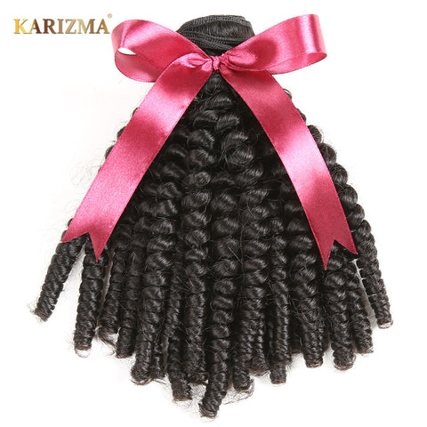 Karizma Brazilian Kinky Curly Hair Bundles Natural Color Hair 1PC 100% Human Hair Weaving Non Remy Hair Extensions Free Shipping