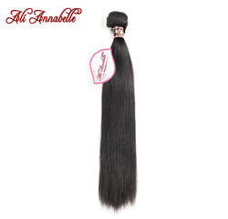 "ALI ANNABELLE HAIR Malaysian Straight Hair Weave Natural Color Human Hair Extension 10""-28"" Remy Hman Hair Bundles Free Shipping"