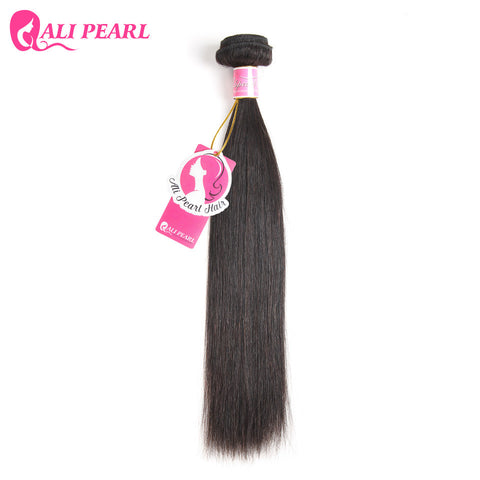 Ali Pearl Hair 1 Piece Only Straight  Brazilian Virgin Hair Human Hair Bundle Free Shipping  8-30 inches Natural Black Color 1B