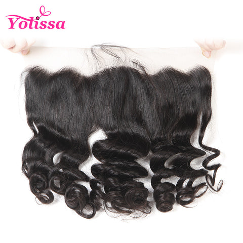 "Yolissa Hair Company 13""*4"" Ear To Lace Frontal Closure With Baby Hair Brazilian Loose Wave 8-20 inch Human Hair free shipping"