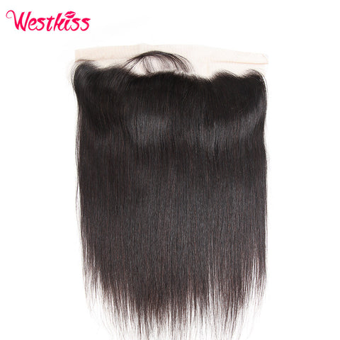 West Kiss Brazilian Straight Remy Hair 13x4 inch Lace Frontal with Baby Hair 100% Human Hair Free Shipping