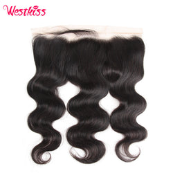 West Kiss Remy Hair 13x4 inch Free Part Body Wave Lace Frontal Peruvian Hair with Baby Hair 100% Human Hair Free Shipping