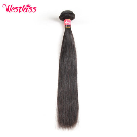 West Kiss 100% Human Hair Products 1 Bundle Natural Black Brazilian Straight Hair Weaving 8-30 inch Remy Hair Free Shipping
