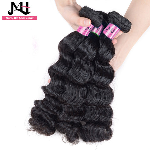 "JVH Brazilian Loose Wave Hair Extension Remy Hair Bundles 1 Pieces/Lot 100% Human Hair Weaving Natural Color 14""- 28""inch"