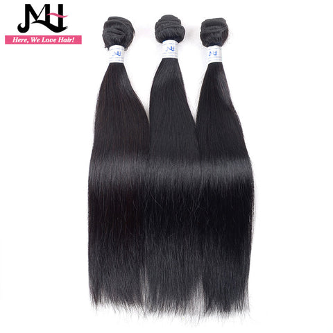 "JVH Malaysian Straight Hair Weave bundles Natural Color 100% Remy Human Hair Machine Double Hair Weft 8""- 28"" Inch"