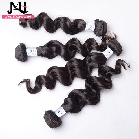 JVH Malaysian Hair Loose Wave Remy Hair Weaving 100% Human Hair Weave 1 Bundles Natural Color Weft 14-28Inch