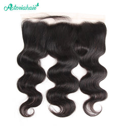 Asteria Hair Brazilian Human Hair Body Wave 13X4 Lace Frontal 8-20 Inches Natural Black Remy Hair Free Shipping