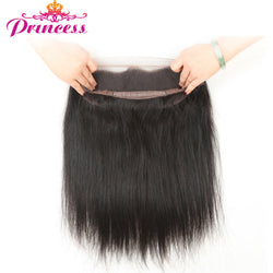 "Beautiful Princess Peruvian Straight Hair Pre Plucked 360 Lace Frontal Natural Color 10""-20"" Remy Closure Free Shipping"