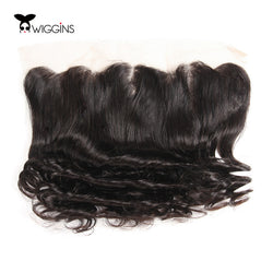 Wiggins Brazilian Hair Lace Frontal Closure Loose Wave Ear To Ear 13x4 Closure With Baby Hair 100% Remy Human Hair