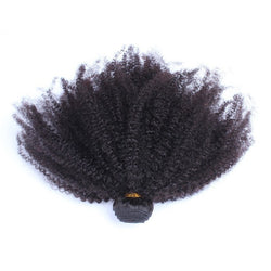 CARA Mongolian Kinky Curly Hair Weaving African Style Non-Remy Afro Kinky Curly Hair Natural Color 1 Piece