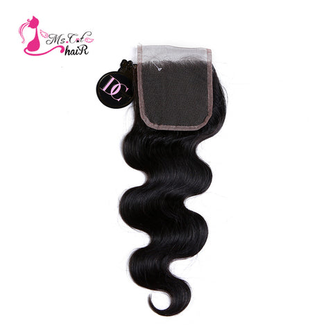 Peruvian Body Wave Closure 4x4 Remy Human Hair Lace Closure Free Part Ms Cat Hair Products Peruvian Hair Closure