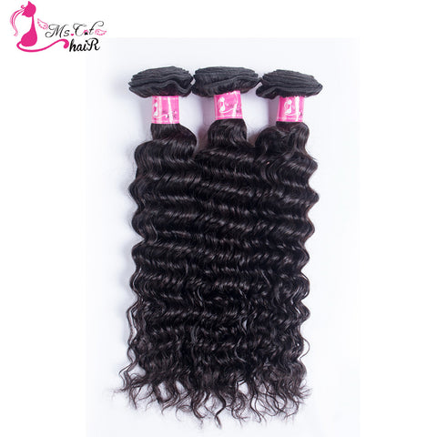 "Peruvian Deep Wave Ms Cat Hair Products 1 Bundle Silky & Soft Human Hair 8 To 24"" Natural 1b Aliexpress Curly Hair"