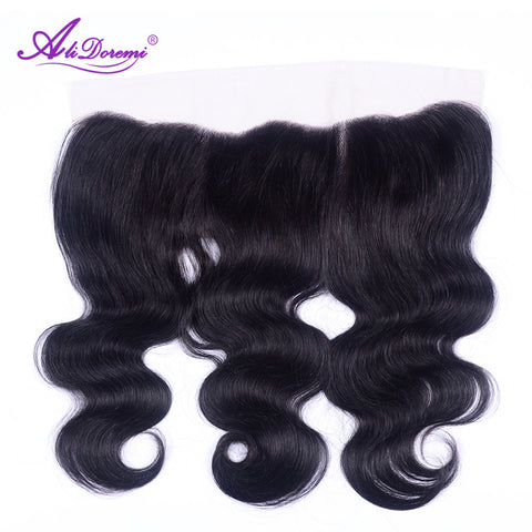 Alidoremi Brazilian Body Wave Lace Frontal Non-Remy Hair Free Part 13x4 Swiss Lace 100% Human Hair Free Shipping