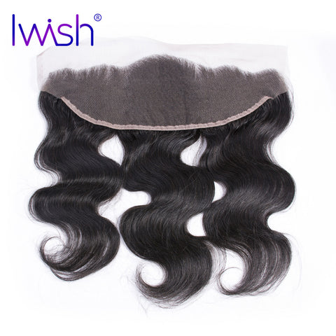 Iwish Brazilian Remy Hair Body Wave Lace Frontal 13x4 inch From Ear to Ear Closure Free Part 100% Human Hair 8-20 inch