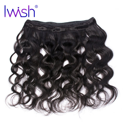 Iwish Body Wave Hair Brazilian Remy Hair Products Natural Black Color 100% Human Hair Weave Bundle 1 Piece Free Shipping
