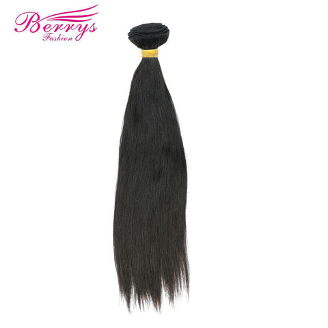 [Berrys Fashion]Brazilian Hair Straight Nature Black Color 10-26inch 1pc/Lot Remy Hair 100% Human Hair Extensions Free Shipping