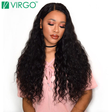 V Only Virgo 100% Natural Remy Human Hair Weave Bundles Malaysian Water Wave Hair 1 Pc Can Be Dyed Bleached Won't Lose Pattern