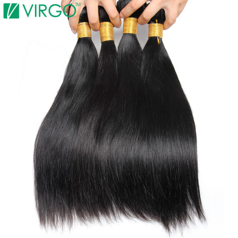 V Only Virgo Hair Products Non Remy Peruvian Straight Hair Natural Black 1B 100% Human Hair Extensions 1pc/Lot Thick And Full