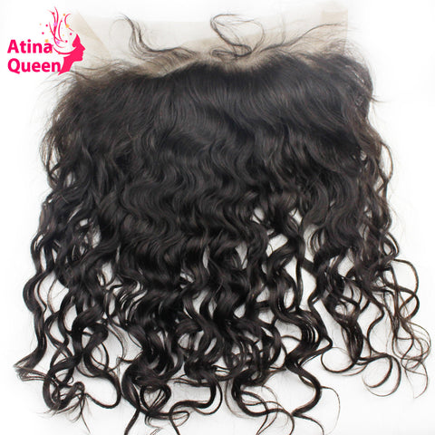 Atina Queen Pre Plucked 360 Lace Frontal Closure Peruvian Wet and Wavy Human Hair Frontals Water Wave Remy Hair With Baby Hair