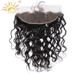 Sunlight Human Hair Brazilian Remy Hair Water Wave Lace Frontal 13X4 Ear To Ear Closure Natural Hairline With Baby Hair