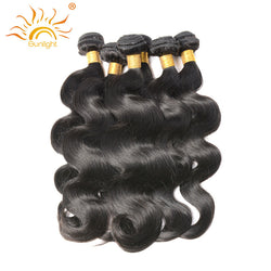 Sunlight Human Hair Malaysian Body Wave Human Hair Weave Bundles Non remy Hair Weaving Natural Black 1PC only Free Shipping