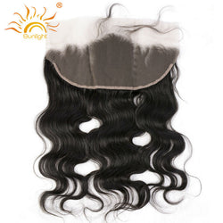 Sunlight Human Hair Brazilian Remy Hair Lace Frontal Closure Body Wave 13*4 ,Natural Hairline With Baby Hair 100% Human Hair