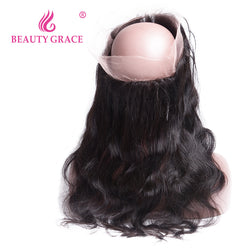 Beauty Grace Pre Plucked 360 Lace Frontal Closure With Baby Hair Brazilian Body Wave 22x4x2 Remy Human Hair Free Shipping