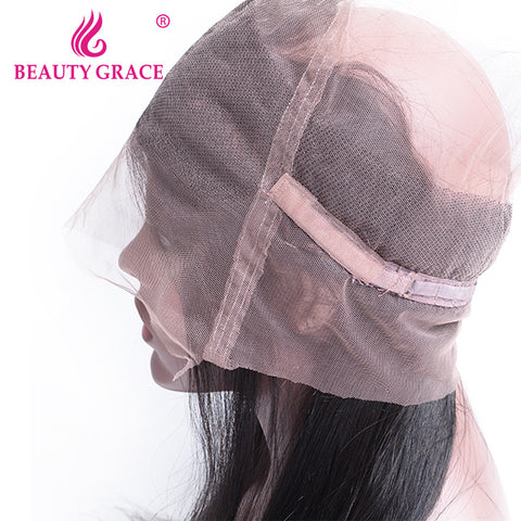 Beauty Grace Brazilian Pre Plucked 360 Lace Frontal Closure Straight With Baby Hair 22x4x2 Remy Human Hair Free Shipping