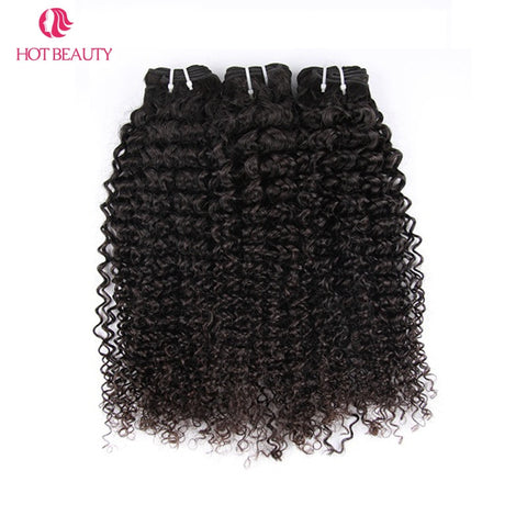 Hot Beauty Hair Extension Brazilian Afro Kinky Curly Virgin Hair 100% Human Hair Weaving Bundles Unprocessed  For black Women