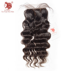 [FYNHA]Brazilian Virgin Hair Loose Wave Silk Base Lace Closure Natural Color 100% Human Hair Free Shipping
