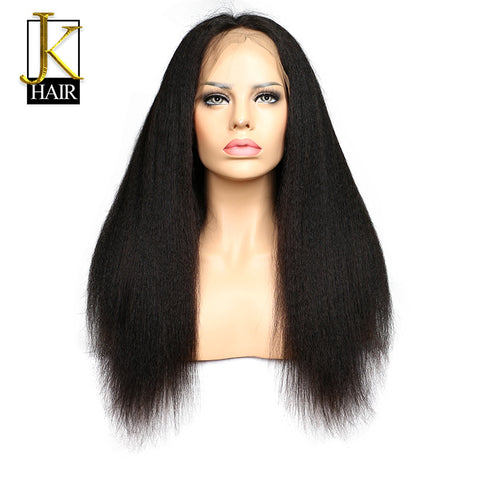 JK Hair Glueless Lace Front Human Hair Wigs For Black Women Kinky Straight Brazilian Remy Hair Wigs Natural Hairline Free Ship