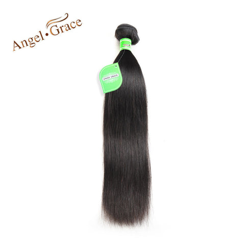 Angel Grace Hair Brazilian Straight Hair Weave 100g/Piece Human Hair Bundles Natural Color Remy Hair 10-28 Inch Free Shipping