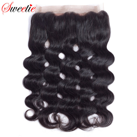 Sweetie Hair Pre Plucked 360 Lace Frontal Closure Body Wave With Baby Hair Brazilian no remy Human Hair Closure Natural Hairline