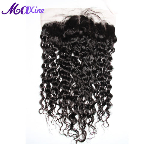 Maxine Hair Remy Human Hair Water Wave 13*4 Ear To Ear Lace Frontal Closure With Baby Hair 10-20inch Natural Color Free Shipping