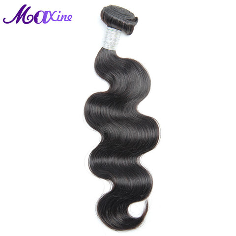 Brazilian Body Wave Hair Single Bundle 100% Human Hair Weave Bundles 1B Non Remy Hair Exstentions No Tangle And Can Be Dyed