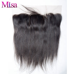 Mi Lisa Lace Frontal Closure Pre Plucked With Baby Hair 13''x4'' Peruvian Straight Hair 100% Remy Human Hair Free Shipping